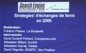 Stratégies d'échanges de liens en 2006